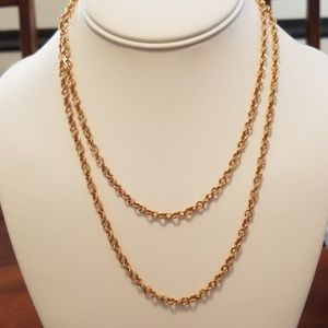 """18"""" bronze Italian necklace from QVC"""